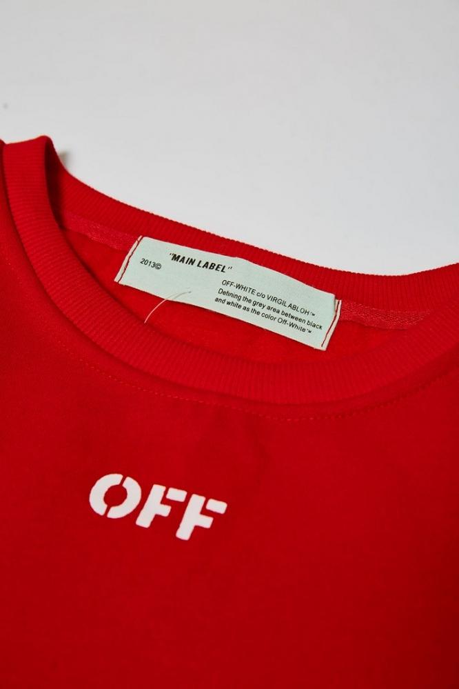 Свитшот OFF-White красный