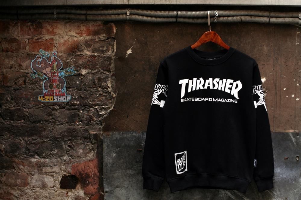 Свитшот Thrasher черный