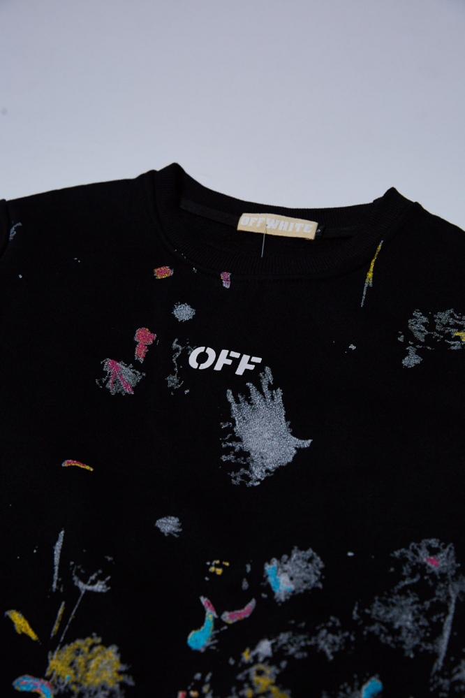 Свитшот OFF-White Кляксы черный