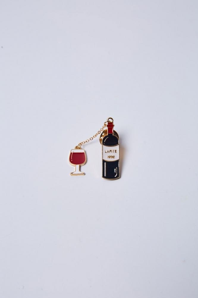 """Пин двойной """"Вино"""""""
