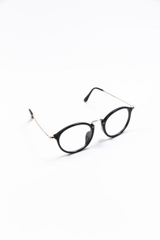 Очки нулевки прозрачные черные