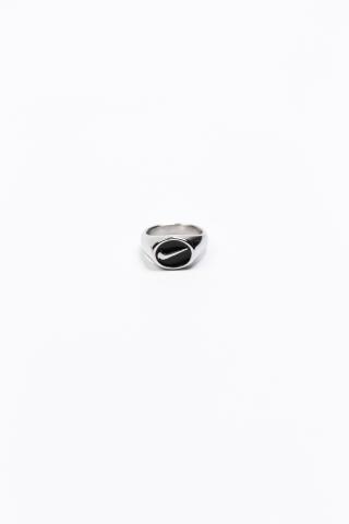 Перстень N круглый глянцевый