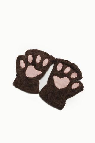 Перчатки Лапки коричневые