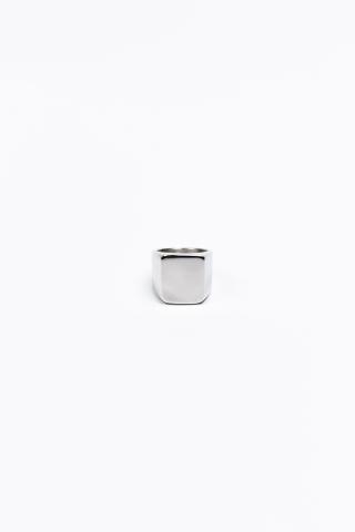 Перстень Гладкий квадрат серый