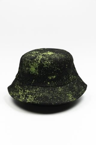 Панама Blots чёрно-зелёная
