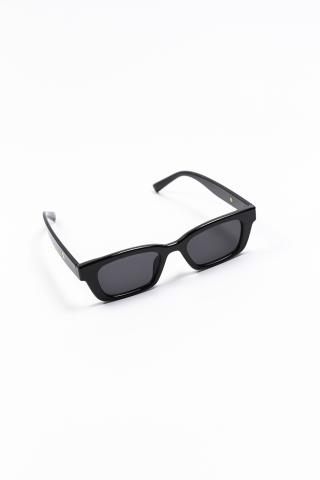 Очки пластиковые трапеция чёрный/чёрный