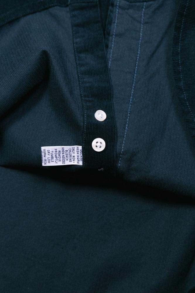 Рубашка Ralf вельвет темно-зеленая