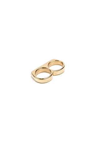 """Кольцо """"Двойное кольцо""""  золотое"""
