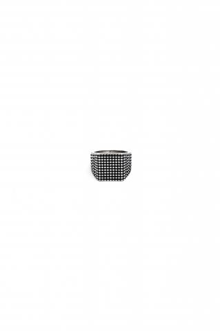 Перстень орнамент точки серый