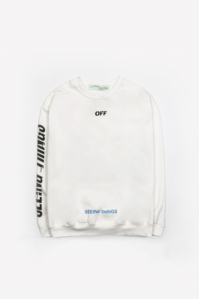 Свитшот OFF-White Seeing things белый