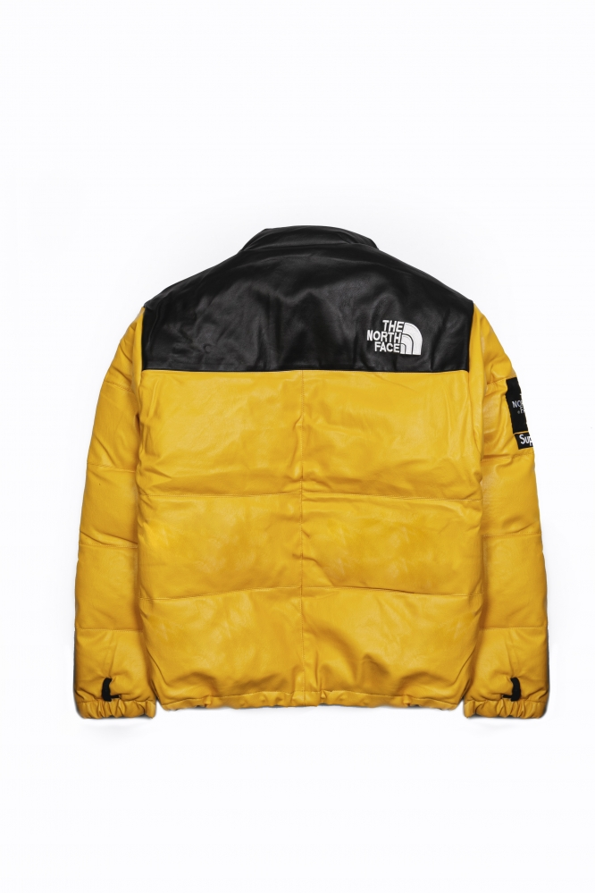 Куртка зимняя The North Face x Supreme пыльно-желтая