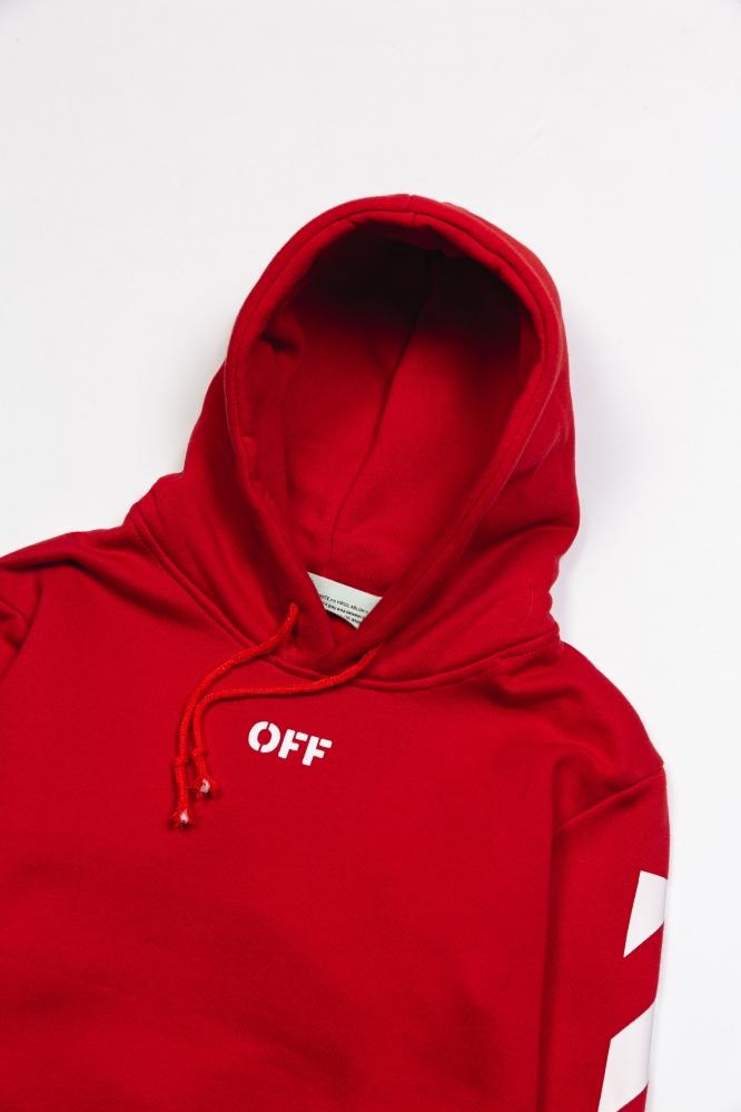 Худи OFF-White красное