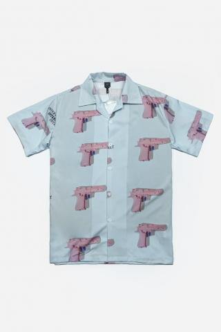 Рубашка Internet Pistols голубая