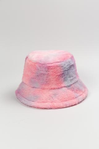 Панама Мохнатая Тай-Дай розовая