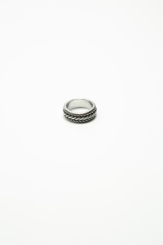 Кольцо Косичка серебряное