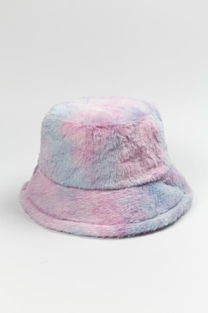 Панама мохнатая Тай-Дай фиолетово-голубая
