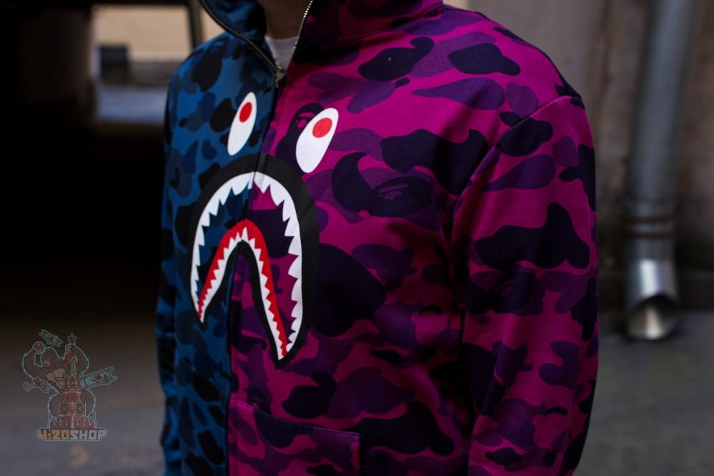 Зип худи Bape Shark