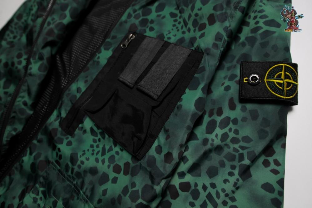 Куртка Stone Island зелено-черная