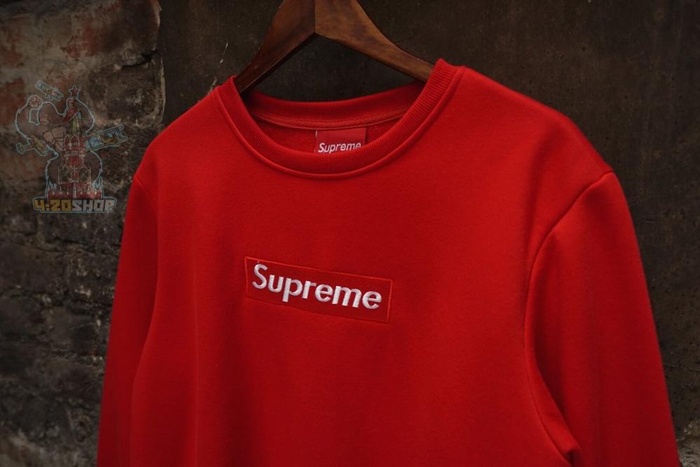 Свитшот Supreme красный