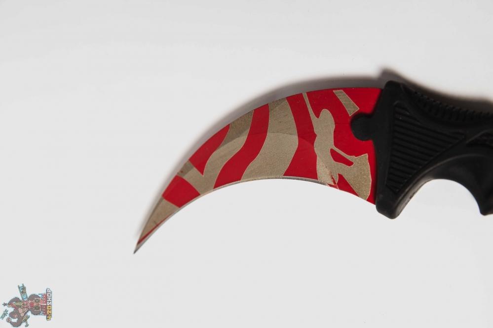 Керамбит полосы красный