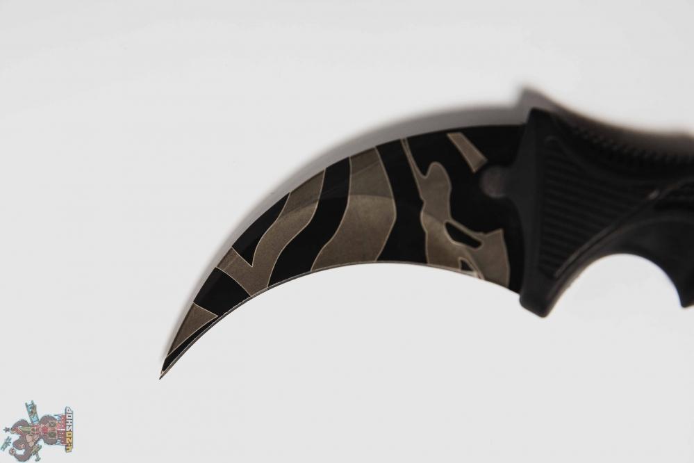 Керамбит полосы черный