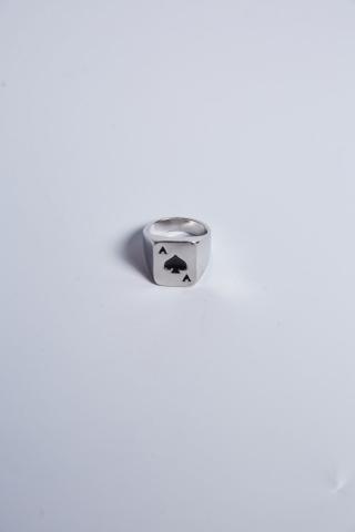 "Перстень ""Туз"" серый"