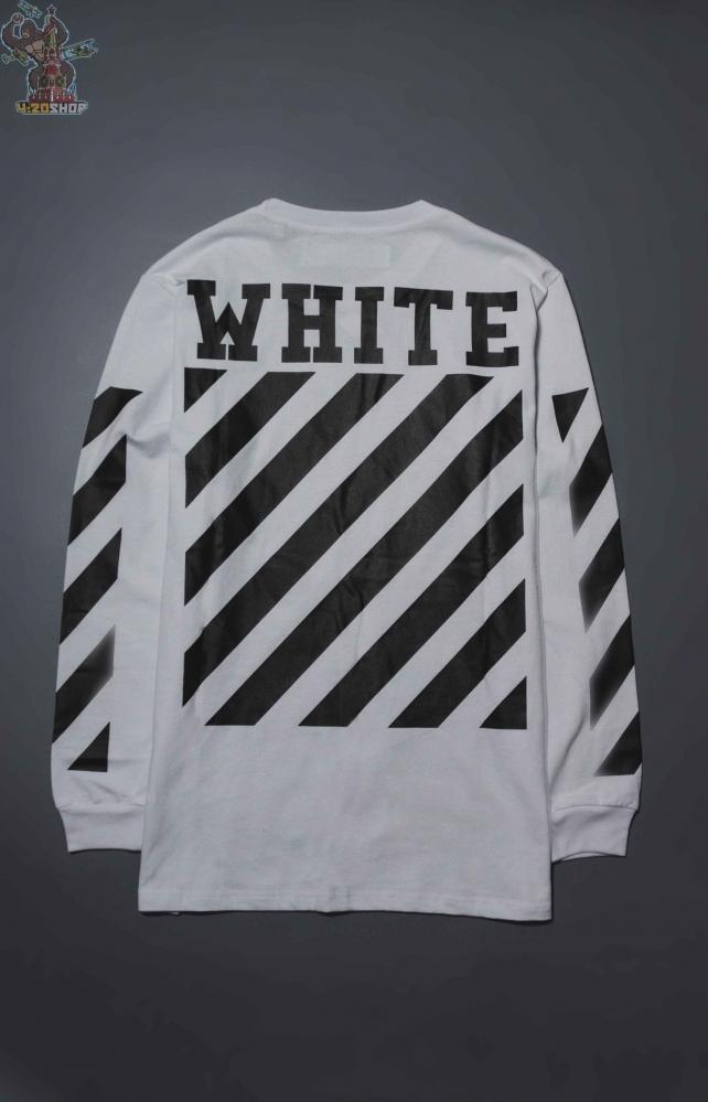 Лонгслив Off-White белый