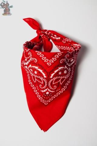 Бандана-фракталы красная