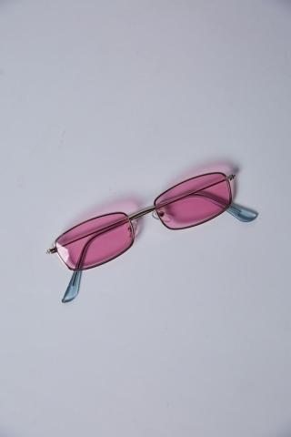 Очки прямоуг 490 (хром/роз)