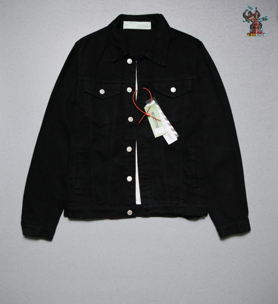 Джинсовая куртка OFF-White черная