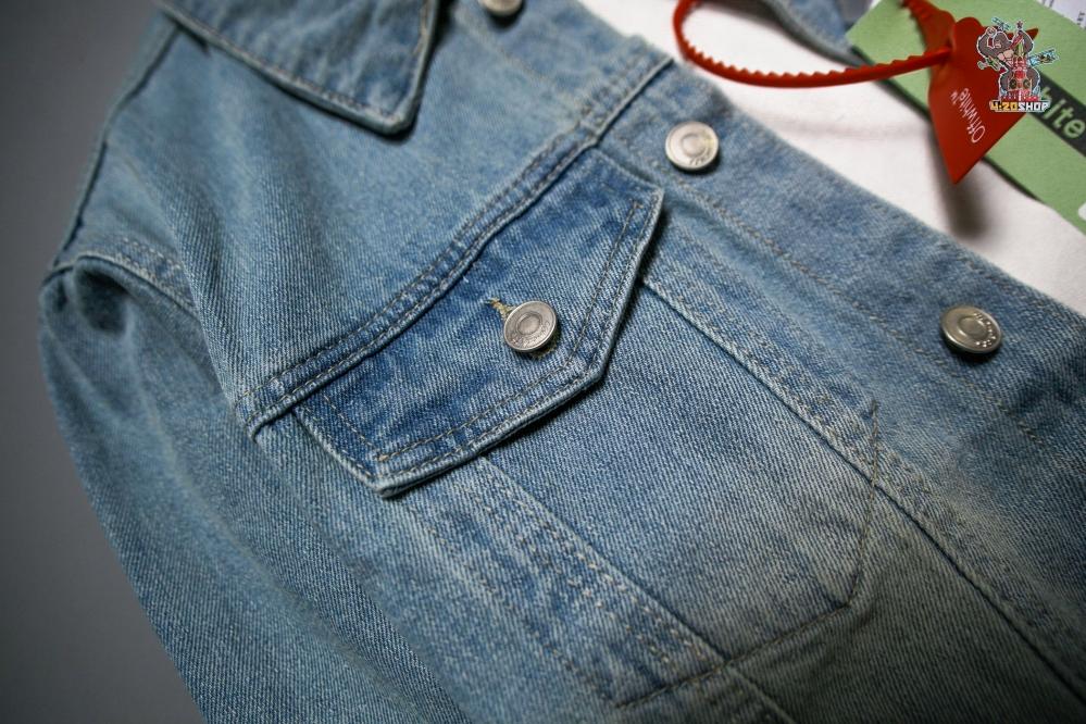 Джинсовая куртка OFF-White голубая