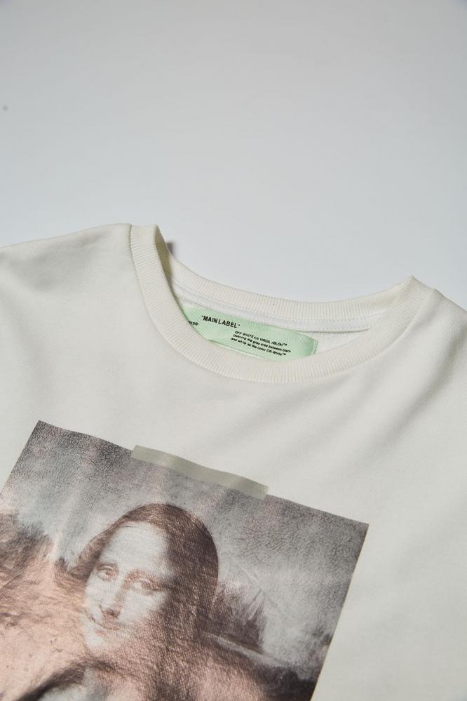 Свитшот OFF-White Мона Лиза белый