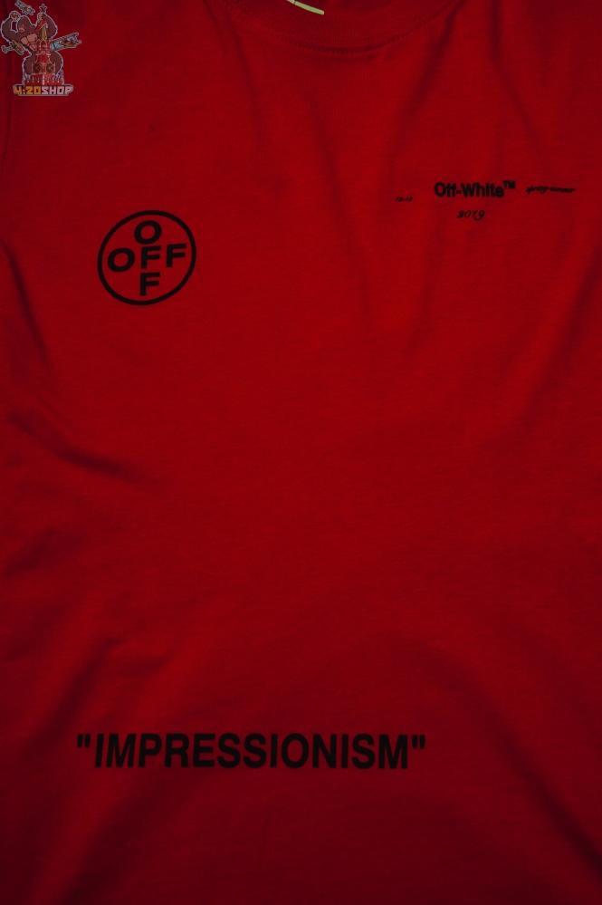 Футболка OFF-White красная