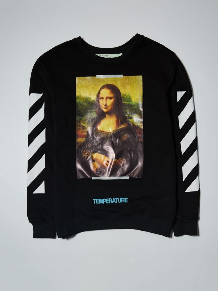 Свитшот OFF-White Мона Лиза черный