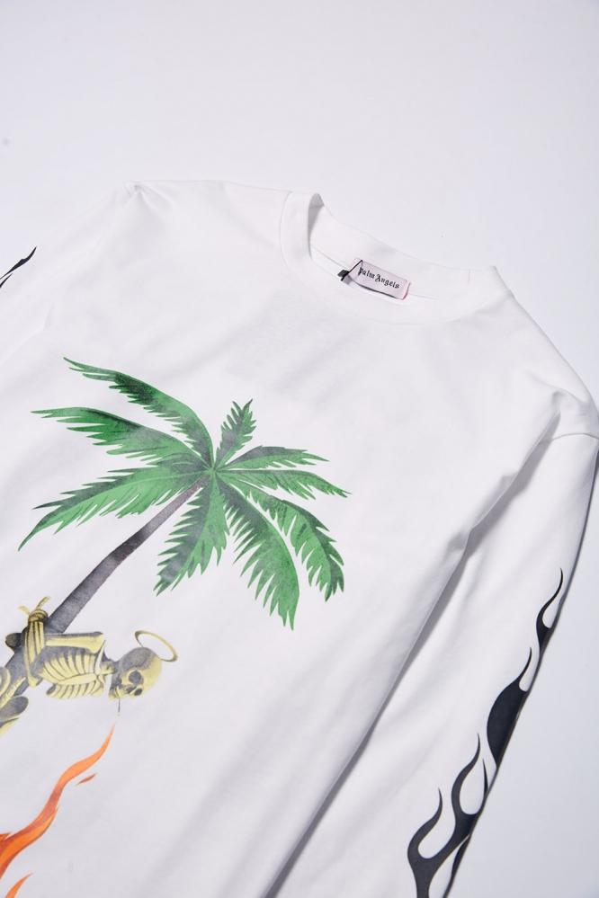 Лонгслив Palm Angels белый