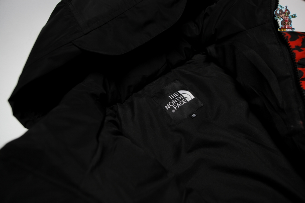 Куртка зимняя The North Face красно-черная