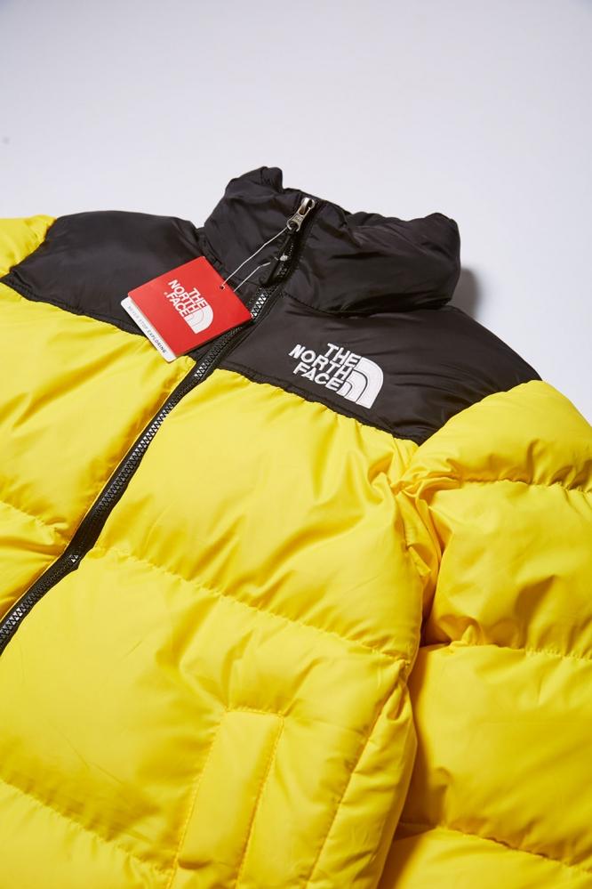 Куртка зимняя  The North Face желтая